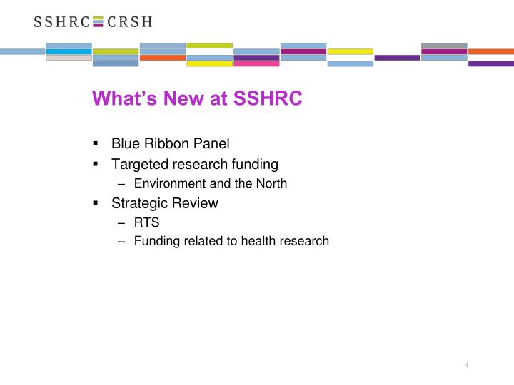 What's New at SSHRC
