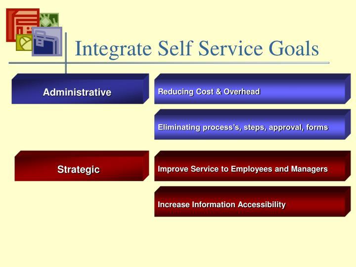 Integrate Self Service Goals