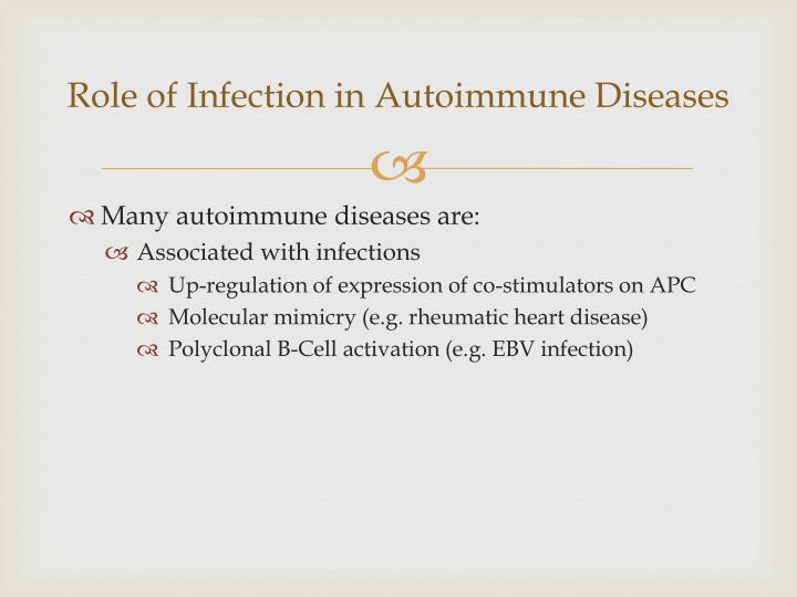 Role of Infection in Autoimmune Diseases