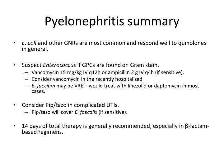 Pyelonephritis summary