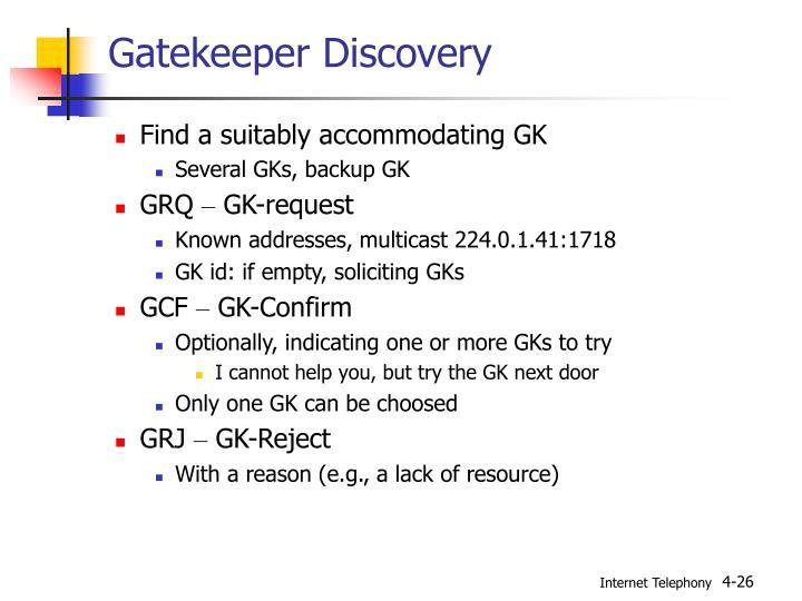 Gatekeeper Discovery
