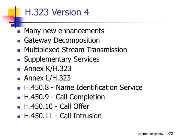 H.323 Version 4