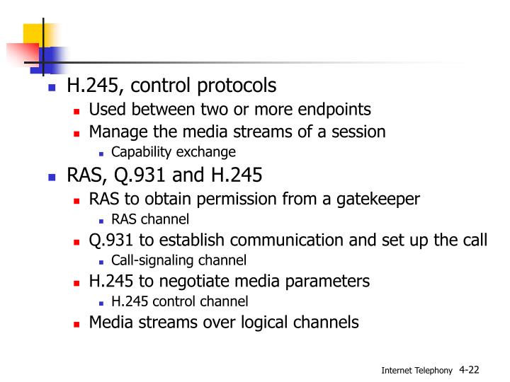 H.245, control protocols