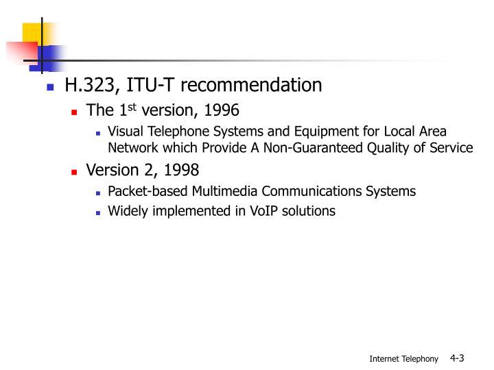 H.323, ITU-T recommendation