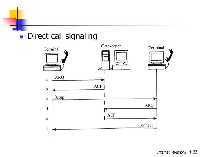 Direct call signaling