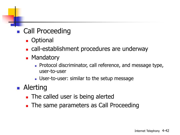 Call Proceeding