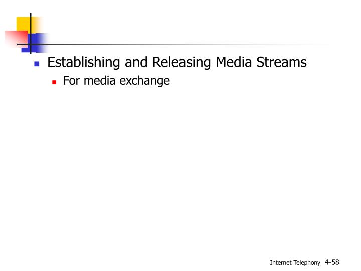 Establishing and Releasing Media Streams