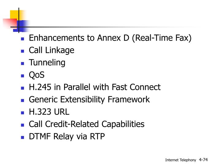 Enhancements to Annex D (Real-Time Fax)