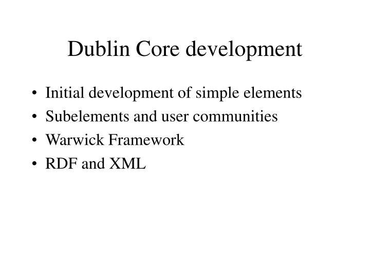 Dublin Core development