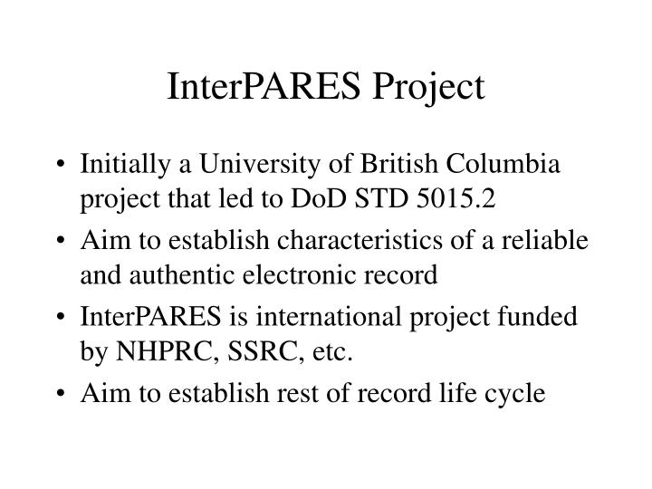InterPARES Project