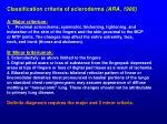 classification criteria of scleroderma ara 1980