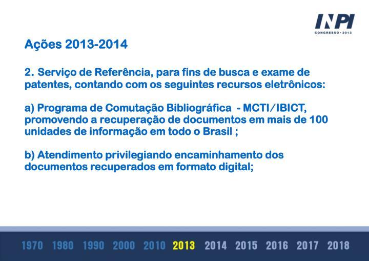 Ações 2013-2014