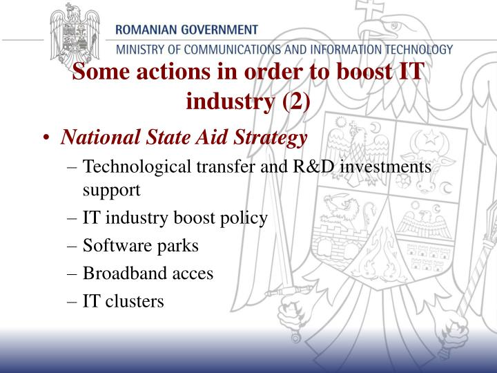 Some actions in order to boost IT industry (2)