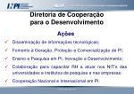 diretoria de coopera o para o desenvolvimento