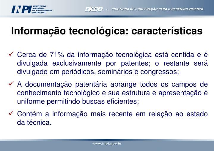 Informação tecnológica: características