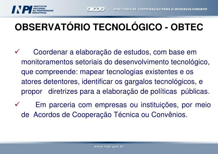 OBSERVATÓRIO TECNOLÓGICO - OBTEC