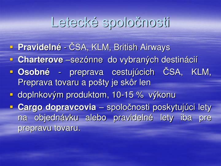 Letecké spoločnosti