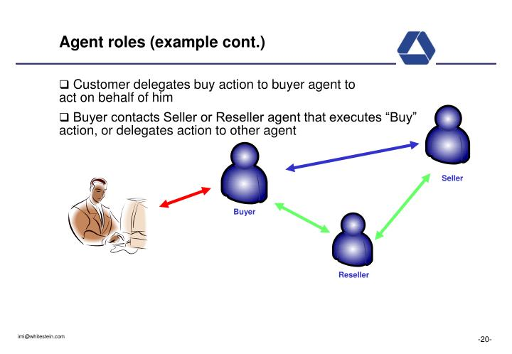 Agent roles (example cont.)