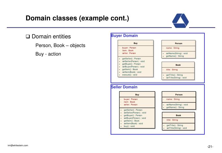 Domain classes (example cont.)