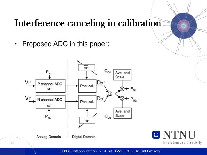 Interference canceling in calibration