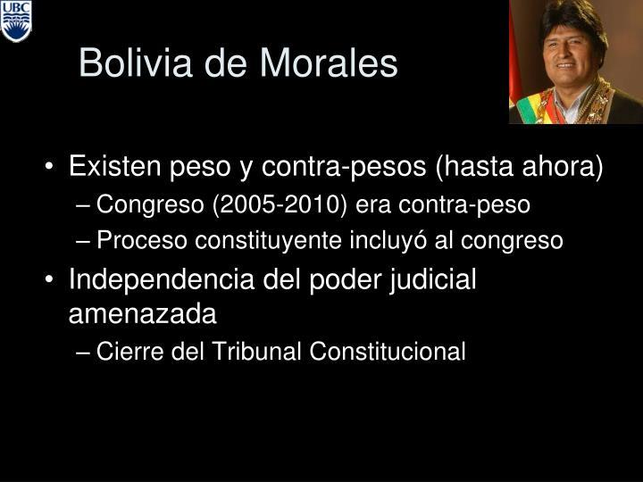 Bolivia de Morales