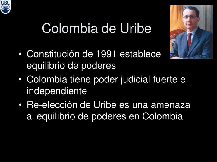 Colombia de Uribe