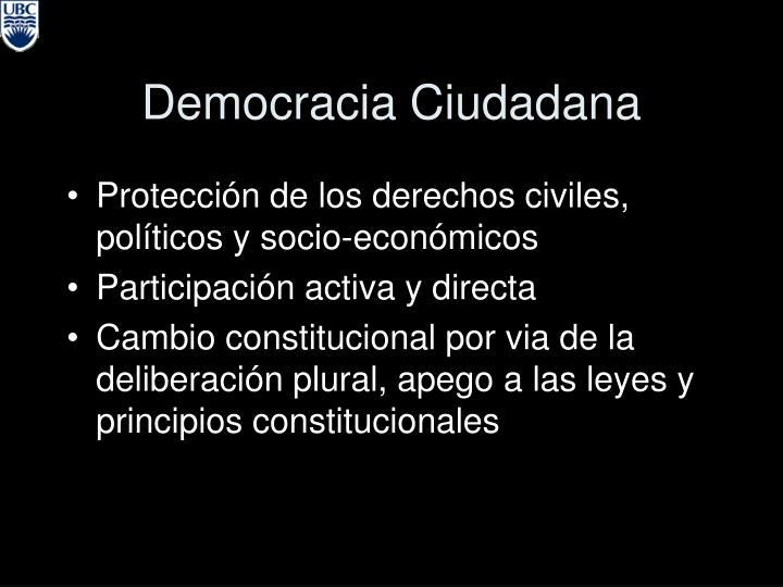 Democracia Ciudadana