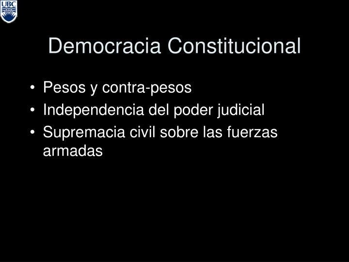 Democracia Constitucional