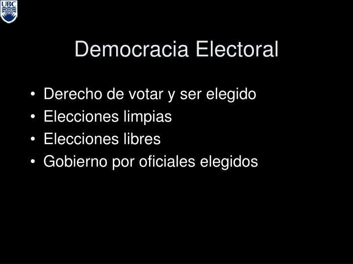 Democracia Electoral