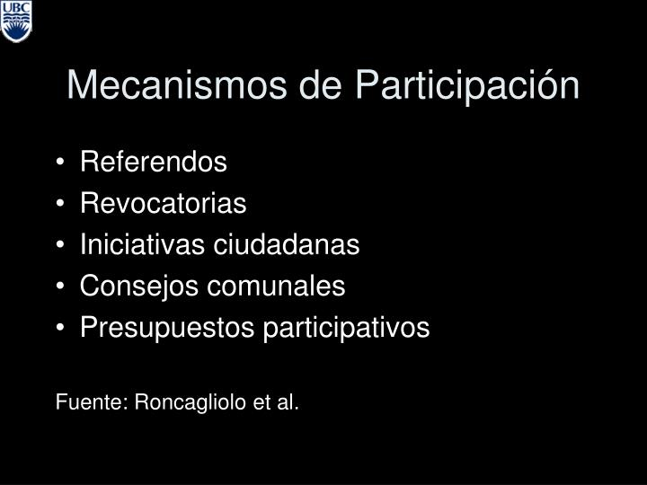 Mecanismos de Participaci
