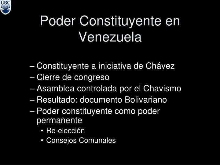 Poder Constituyente en Venezuela