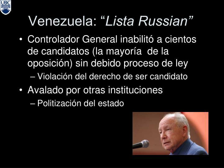 """Venezuela: """""""
