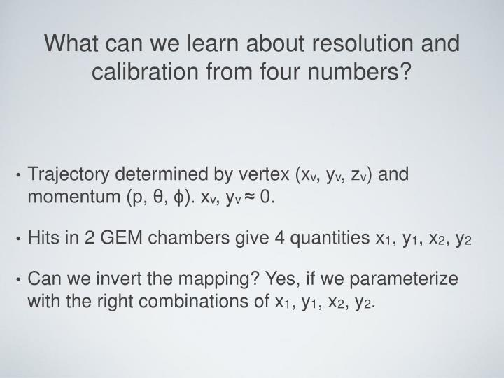 What can we learn about resolution and calibration from four numbers?
