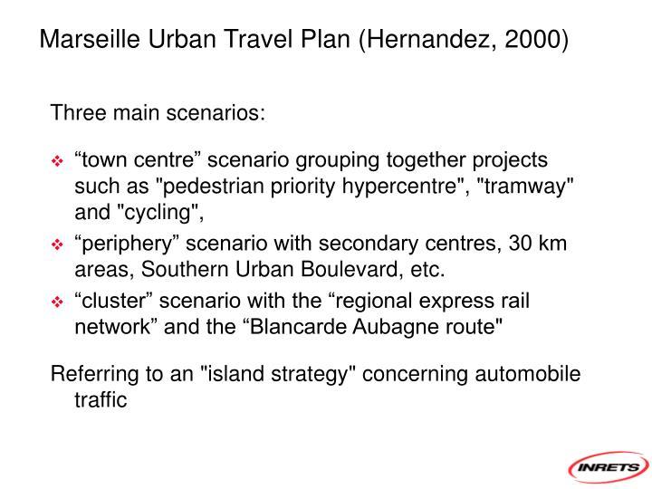 Marseille Urban Travel Plan (Hernandez, 2000)