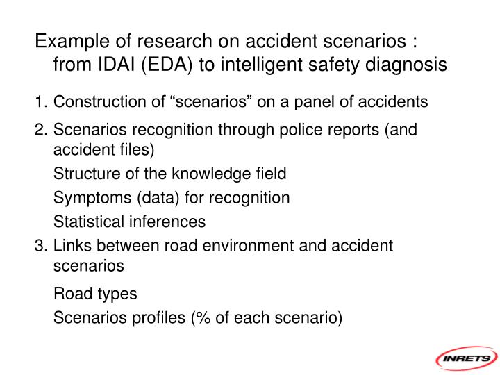 Example of research on accident scenarios : from IDAI (EDA) to intelligent safety diagnosis