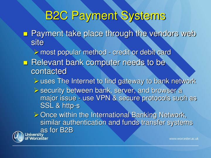 B2C Payment Systems
