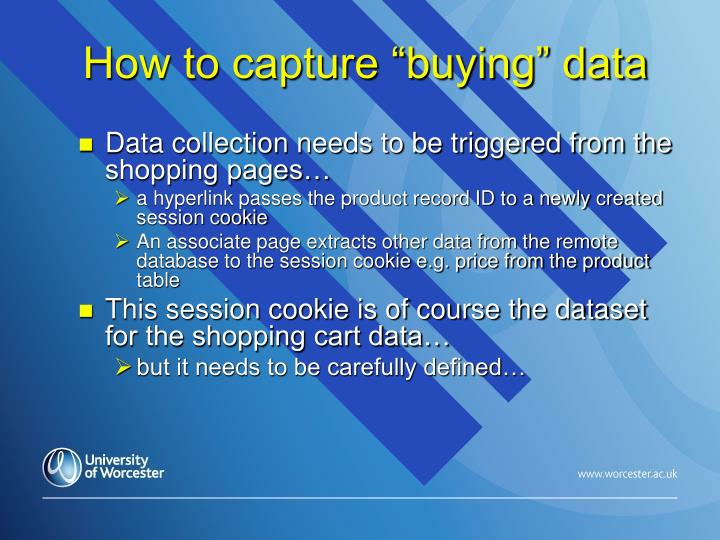 "How to capture ""buying"" data"