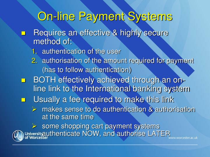 On-line Payment Systems