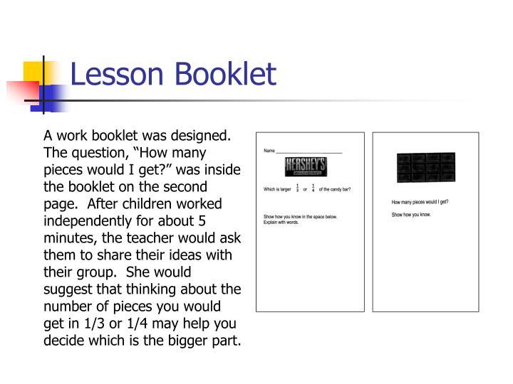 Lesson Booklet