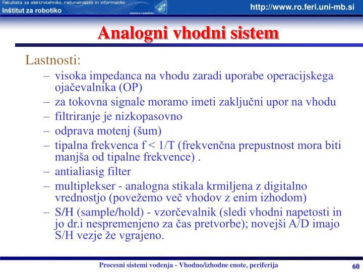 Analogni vhodni sistem