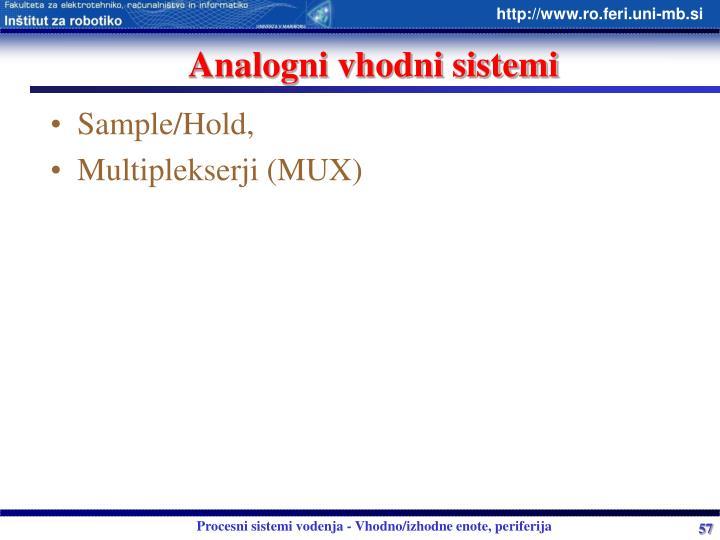 Analogni vhodni sistemi