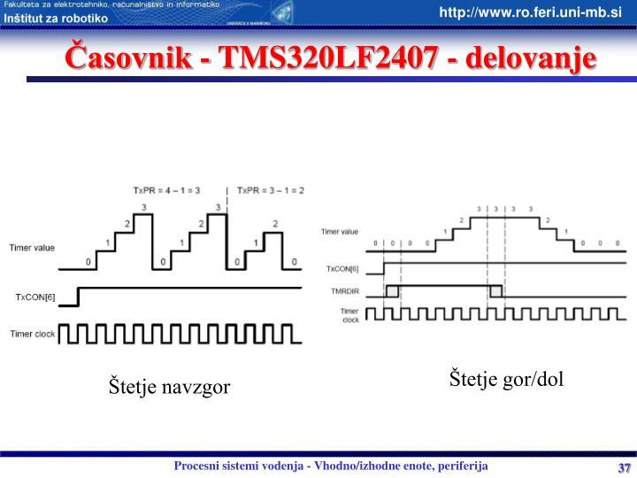Časovnik - TMS320LF2407 - delovanje