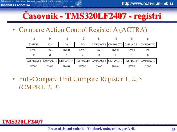 Časovnik - TMS320LF2407 - registri
