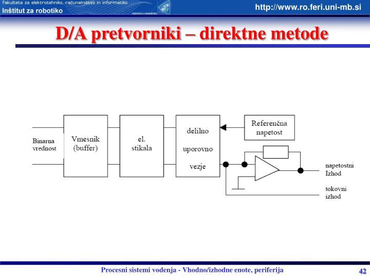 D/A pretvorniki – direktne metode