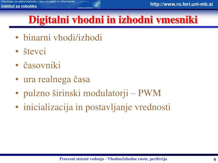 Digitalni vhodni in izhodni vmesniki