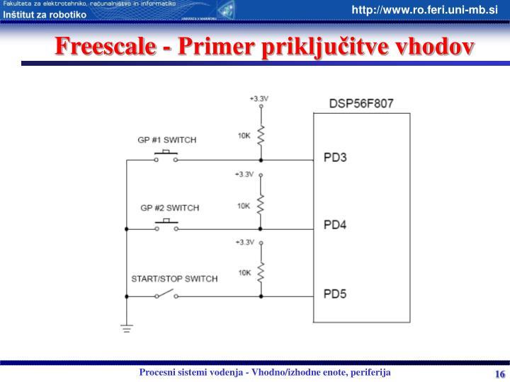 Freescale - Primer priključitve vhodov