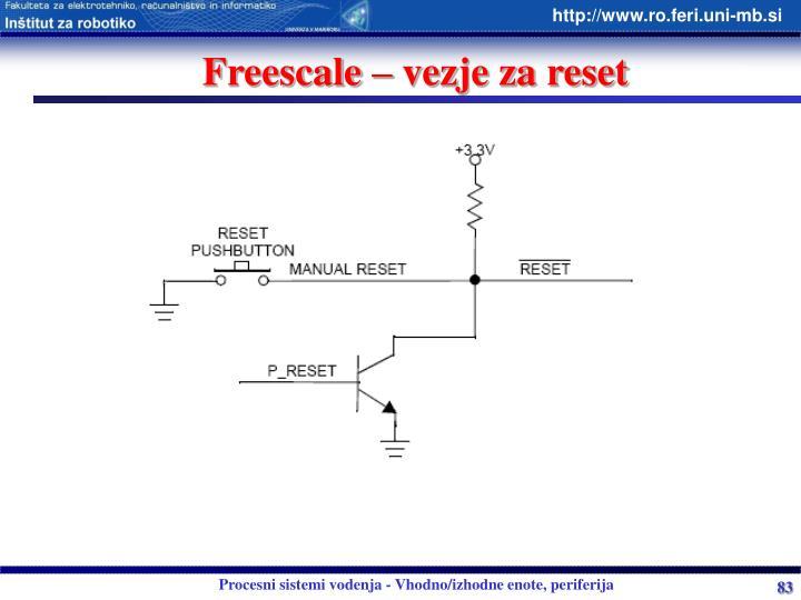 Freescale – vezje za reset