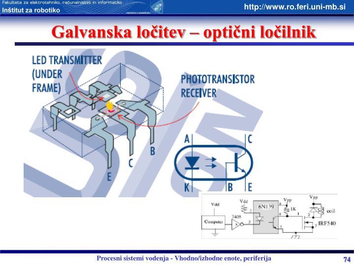 Galvanska ločitev – optični ločilnik