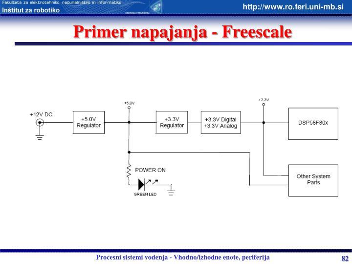 Primer napajanja - Freescale