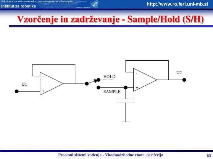 Vzorčenje in zadrževanje - Sample/Hold (S/H)